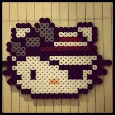 Hello Kitty Pirate Perler Bead. $4.00, via Etsy.