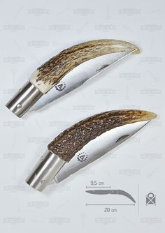 If you have a friend or partner and you want to have this set. Become a matching gift! I propose this new rustic pocket knife made of deer antler. All details: Deer Antler Crafts, Deer Antlers, Opinel Knife, Knife Drawing, Diy Knife, Whittling, Bike Design, Knives And Swords, Folding Knives