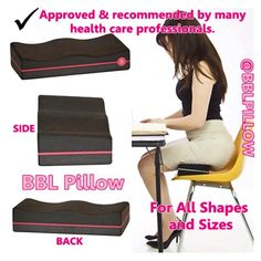 Our BBL Pillow is Designed specifically for post Butt Augmentation Surgery to support your recovery process by allowing you to sit without putting pressure on the buttocks. ✔️Firm with a little softness to avoid pressure and sinking of the butt. Fits perfectly in airplane seats and most seating surfaces✈️ It comes with a FREE DISCRETE Black Carrying Bag   GRAB one now at www.bblpillow.com or BUY our BBL Pillow at Amazon.com