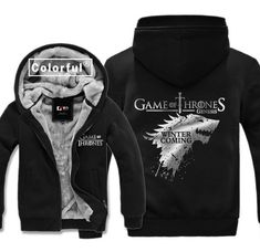 High-Q Unisex Game of Thrones House hoodies jacket gilding Game of Thrones Cardigan Hoodies jacket coat Sweatshirts