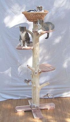 Cat tree by stillponds on Etsy, $265.00