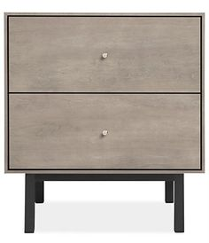 Hudson Nightstands with Steel Base - Nightstands - Bedroom - Room & Board