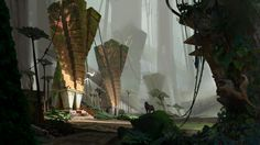 ArtStation - Rain forest temple, han meng