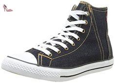 Levi's Original Red Tab Denim White Mens Hi Trainers Shoes-43 - Chaussures levis (*Partner-Link)