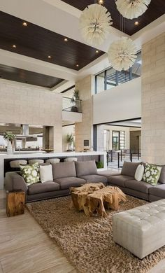 #homedesign #livingroomdecor #inspiration | Design ideas for a contemporary open concept living room in Las Vegas with white walls. — Houzz
