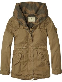 Longer length parka | Jackets | Girls Clothing at Scotch & Soda