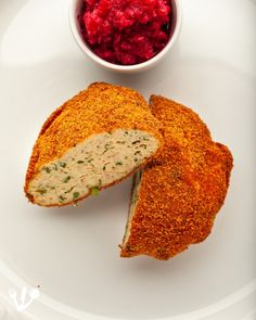 """Fried """"gefilte fish"""", carp with fines herbes, """"Fischscheiben"""" in German, with red """"chrain,"""" sweet beet horseradish relish. This is a completely assimilated """"gefilte fish"""" dish out the Freuds' """"Kochbuch der Deutschen Schule in Prag."""" Gefilte Fish Recipe, Fish Patties, Chopped Liver, Matzo Meal, Jewish Recipes, Fried Fish, Fish Dishes, The Dish, Beets"""