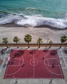 Beach Basketball Playground Seaside