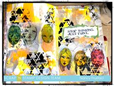 Blog - Scrap'N Stamp, Magnificant Mixed Media Mess ( Art Journalling)