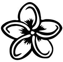 Hawaiian Island Decals - pet, floral, honu & gecko, sealife, and hawaiian decals Hawaiianisches Tattoo, Tattoo Drawings, Flower Drawings, Tropical Flower Tattoos, Plumeria Tattoo, Logo Floral, Beginner Tattoos, Hawaiian Tattoo, Hawaiian Flowers