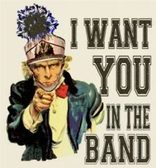 Marching Band Uncle Sam. Yes!!! We should make posters and put them all over the school!!!!