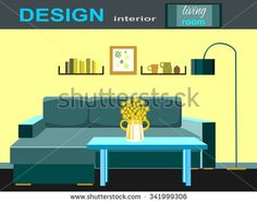 illustration of the living room