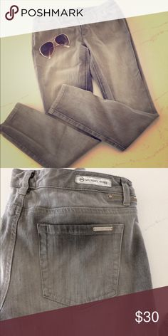 e848434446c4 🎉sale🎉Michael Kors gray skinny jeans Slightly distressed gray skinny jeans.  Michael Kors logo on button