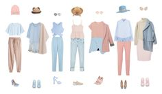 """""""Pink and Beige and Blue"""" by everysimpleplan ❤ liked on Polyvore featuring Zara, Paul Smith, By Malene Birger, Clu, Topshop, Jonathan Simkhai, adidas, MANGO, Steve J & Yoni P and Monki"""