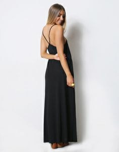 STRAPPY MAXI DRESS - STRAPPY MAXI DRESS WITH V BACK DETAIL - Maxi Dresses