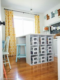Colourful Cheery Craft Room Tour at thehappyhousie.com-22