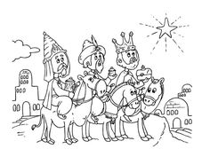 Epiphany coloring pages for children Coloring Sheets For Kids, Cool Coloring Pages, Christmas Coloring Pages, Animal Coloring Pages, Printable Coloring Pages, Coloring Books, Easter Colouring, Epiphany Crafts, Three Wise Men