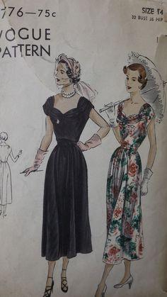 "Vintage, Original ""VOGUE"" PATTERN # 6776 Size 14 Dress  '40's Era. NICE!"