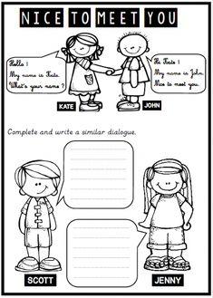 Teach English To Kids, English Activities For Kids, English Worksheets For Kids, English Lessons For Kids, Learn English, Grammar For Kids, Teaching English Grammar, Nice To Meet, Meet You