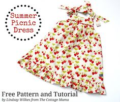 The Cottage Home: Summer Picnic Dress ~ Free PDF Pattern and Tutorial
