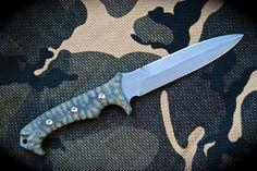 KNIVES. szaboinc.com Shirodagga fighting double edged dagger with unilateral handle