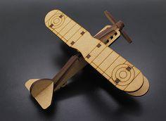 Bi-Plane Laser Cut Wood Model (KIT)