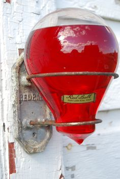 Rare Vintage Red Ball GLASS FIRE Extinguishers Intact SET