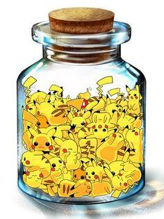 Pikachu in a jar