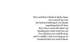 BUT HAD ME BELIEVING IT WAS ALWAYS SOMETHING THAT I'D DONE.