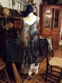 Luv Lucy crochet dress Lucy's Blue Moon Plus by TheVintageRaven, $225.00