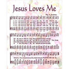 Jesus loves me this I know, for the Bible tells me so; Little ones to Him belong; They are weak, but He is strong. Yes, Jesus loves me! I think this might be the first song I ever learned and he does Bible Songs, Praise Songs, Worship Songs, Praise And Worship, Church Songs, Church Music, Hymen, Then Sings My Soul, Soli Deo Gloria