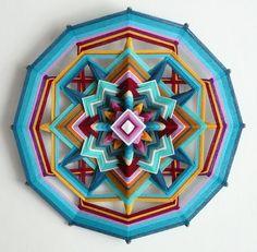 Ojo de Dios mandala hilo mariposa cielo 18 por JaysMandalas en Etsy