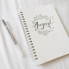 Hello everyone! here is the completed finished look of my August cover! I added a little bit of color on the leaves to make look more nicer! I'm still trying to find an easy layout for my weekly spreads and it's been progressing a little bit! I'll let you guys know really soon! #studyblr #studygram #muji #bulletjornal #bujo #planner