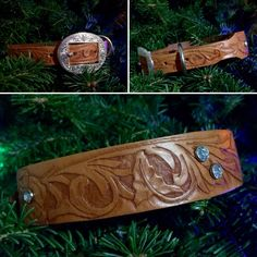 Your place to buy and sell all things handmade Kelly S, Twelve Days Of Christmas, Medium Sized Dogs, Leather Dog Collars, Leather Design, Leather Tooling, Dog Training, Jewels, Stitch