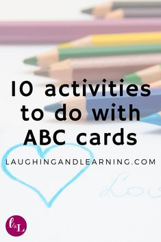 10 Activities to Do with ABC Cards! Literacy and language development sould be a key factor in learning. Here are 10 fun and engaging literacy and language activities with ABC cards. Printable Puzzles, Printable Activities For Kids, Alphabet Activities, Language Activities, Kindergarten Activities, Educational Activities, Road Trip Activities, Hands On Activities, Free Activities