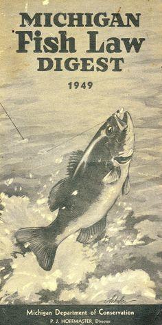 1949 Michigan Fishing License Guide