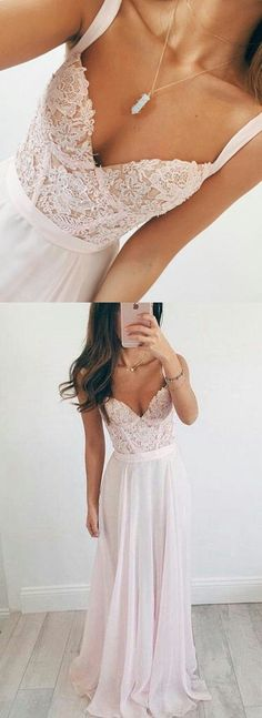 Popular A-line Top Appliqued With Pearls Long Prom Dress