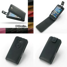 PDair Leather Case for Huawei Ascend Y511 - Flip Top Type (Black)