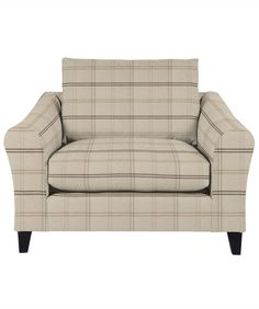 Laura Ashley Baslow Snuggler - Hinton Check Natural