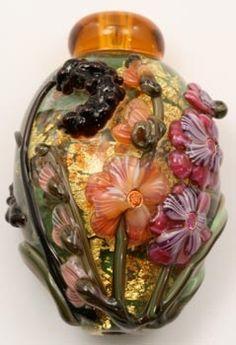 handmade lampworked glass beads, Leah Fairbanks Handmade Glass Beads Beads