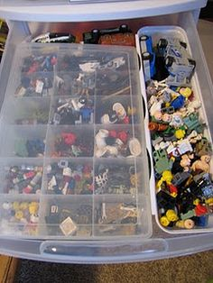 lego storage - small divided bin for 'odd' pieces and guys