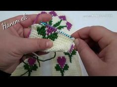 Crochet Flower Tutorial, Crochet Instructions, Crochet Flowers, Crochet Slipper Pattern, Crochet Slippers, Tunisian Crochet, Diy Crochet, Crochet Designs, Crochet Patterns