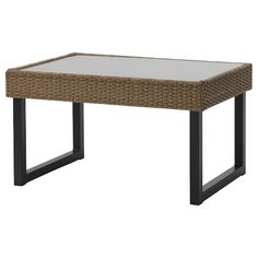 ÄPPLARÖ Table/stool section, outdoor, brown stained brown - IKEA