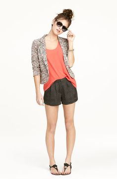 Necessary Objects Blazer, Frenchi® Top & Lily White Shorts | Nordstrom