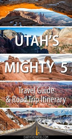 Utah's Mighty 5 Travel Guide and Road Trip Itinerary. Zion, Bryce Canyon, Capitol Reef, Arches and Canyonlands National Parks. #utah #nationalparks #mighty5 #zion #brycecanyon #arches #roadtrip