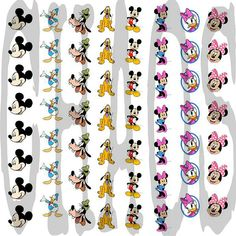 Mickey & Friends Waterslide Nail Decals by ChaosNailDecals on Etsy, $5.00
