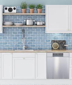 Tässä Shaker-keittiössä luonnolliset materiaalit yhdistyvät rustiikkiseen tyyliin. Avoimet pinnat tekevät keittiöstä ilmavan. Tammi ja messinki tuovat harmoniaa viihtyisään ja avaraan keittiöön, jota kestävät, ruostumattomasta teräksestä valmistetut kodinkoneet täydentävät. Country Living, Kitchen Cabinets, Home Decor, Country Life, Decoration Home, Room Decor, Kitchen Cupboards, Interior Design, Home Interiors