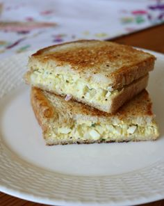 Three Easy Egg Salad Recipe Ideas - Egg Salad grilled on sourdough bread makes for a tasty sandwich. Easy and Simple ideas for those leftover Easter Eggs.   CeceliasGoodStuff.com | Good Food for Good People