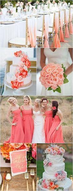 Segundinha é dia de dar o tom e sugerir uma paleta de cores ou tema de casamento. Hoje escolhi o coral, uma cor leve e alegre ao mesmo tempo...