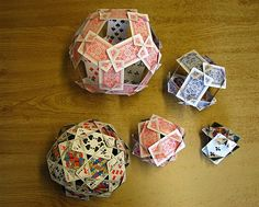 Using Playing Cards to Represent Platonic Solids « Math Craft  (The cards are the EDGES)